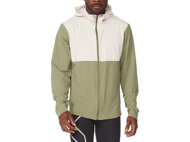 2XU Aero Jacket Men, zielony/biały